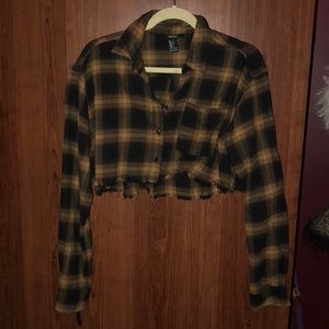 Sz small, LIKE-NEW, long sleeve, flannel crop!